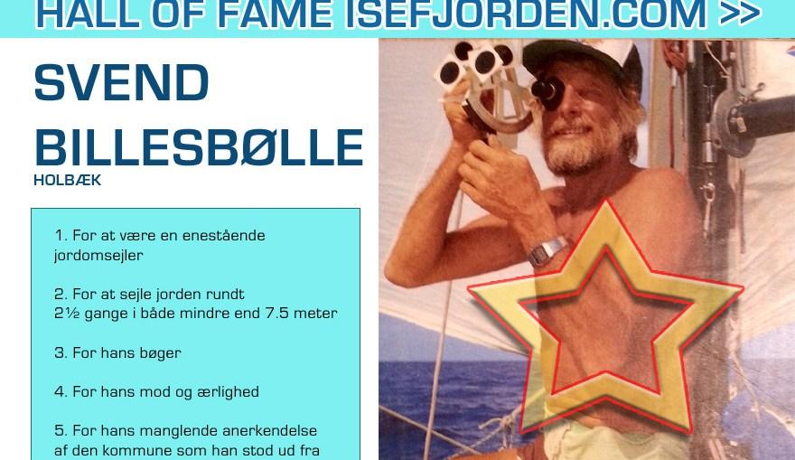 """Svend Billesbølle - Enestående jordomsejler. Optaget i """"Hall of fame"""" på Isefjorden.com"""