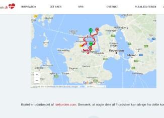 VisitHolbæk bruger Isefjorden.com's kort over Isefjordsstien