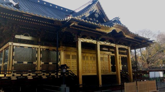 上野東照宮の本殿(金色殿)