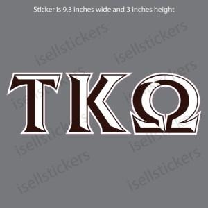 Lee University Tau Kappa Omega Chiseled Window Bumper Sticker Car Decal