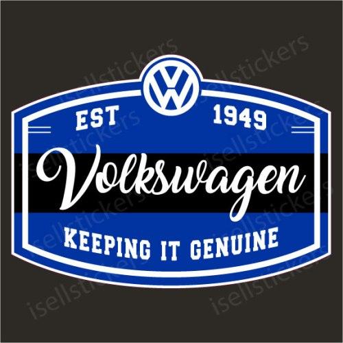 Volkswagen Genuine Est 1949 Swag Retro Bus Window Decal Sticker