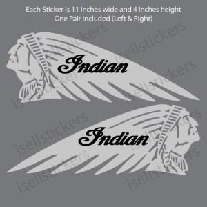 Indian Motorcycle Chief Gas Tank Car Truck Bike Bumper Sticker Window Decal 11 Inch Pair