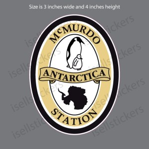 ST-200 McMurdo Station Antarctica Decal Sticker
