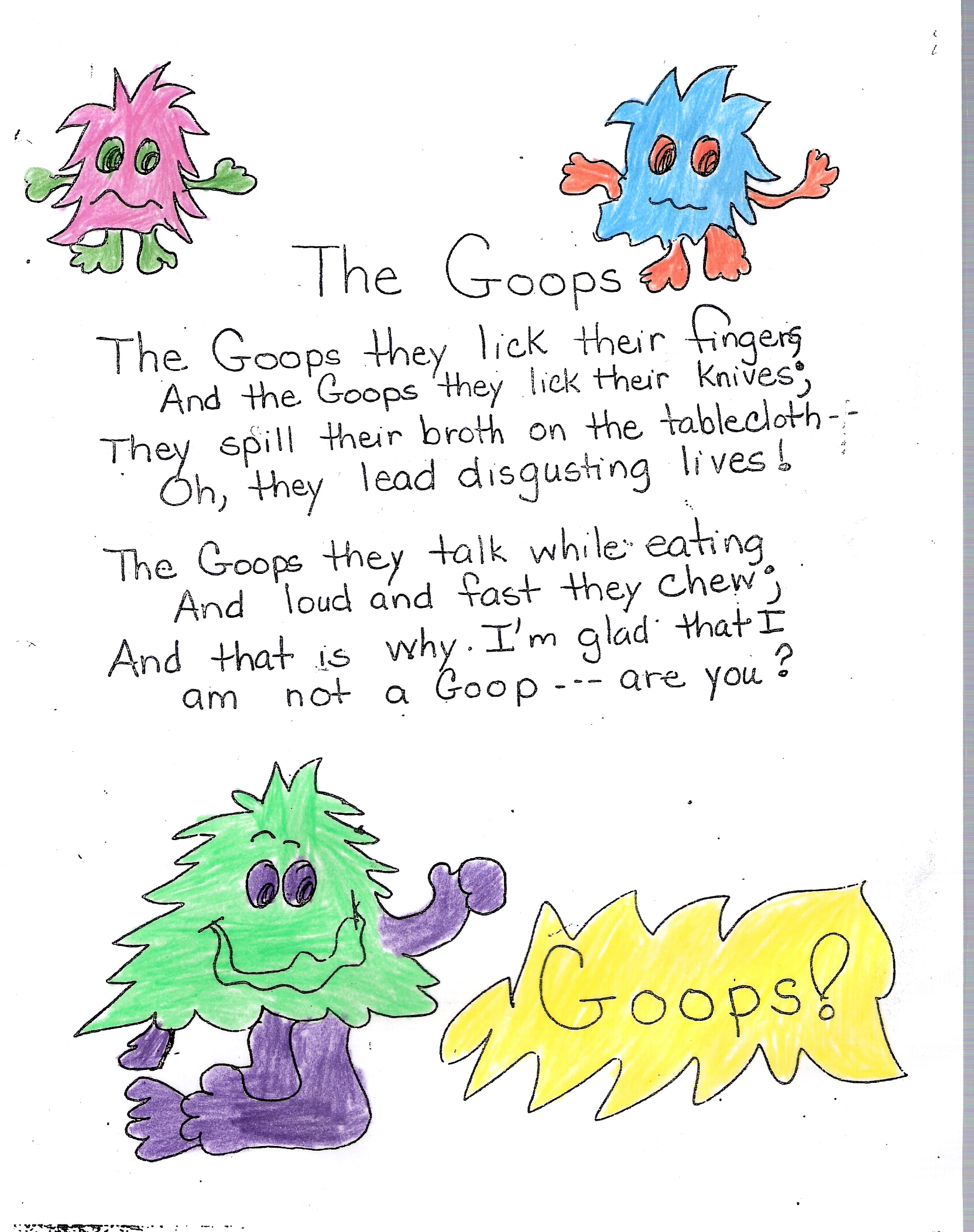 Poem No 11 The Goops