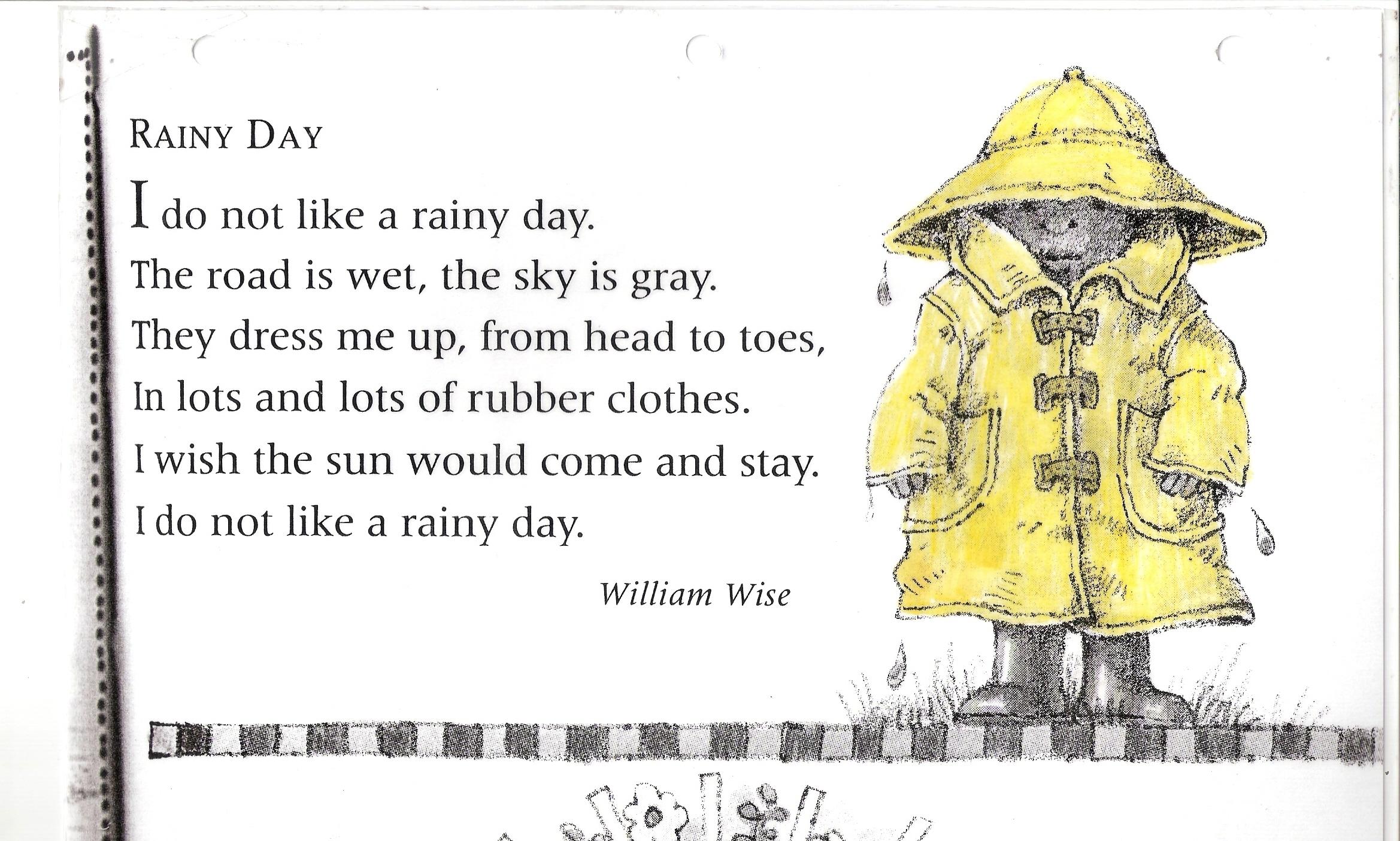 Poem No 14 Rainy Day