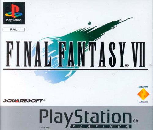 Portada de Final Fantasy VII en Playstation del año 1997