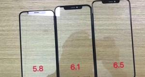 Aparecen los posibles paneles de cristal de los iPhone de 2018