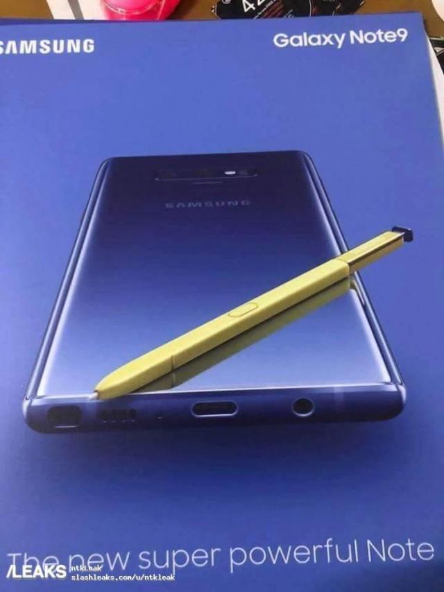 Cartel promocional Samsung galaxy Note 9