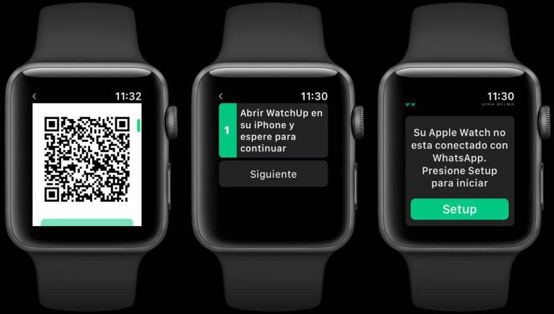WatchUp configurando en el Apple Watch