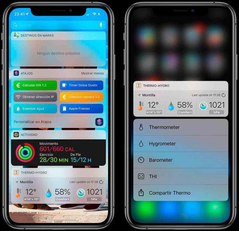 Thermo-hygrometer en iOS