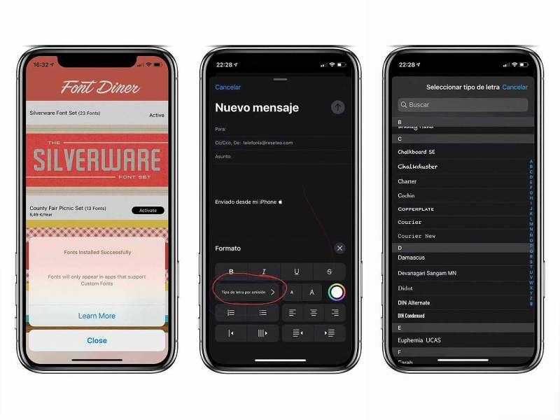 Cómo instalar fuentes en el iPhone e iPad