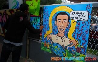Pak Jokowi di lomba mural dan street painting