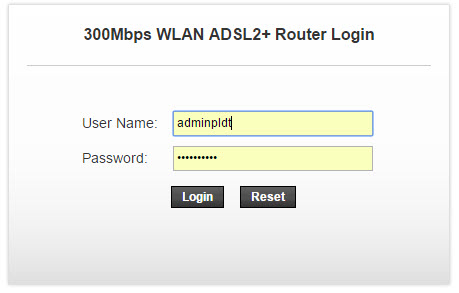Login to your PLDT Modem Admin interface