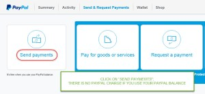 Paypal send payments to another Paypal account