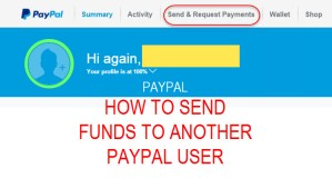 Paypal transfer funds to another paypal user