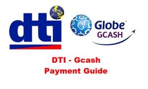 DTI Gcash Payment Guide