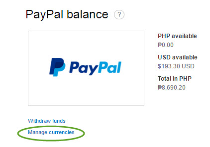 How to check USD to Peso rate in Paypal