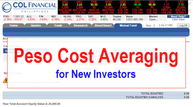 COL EIP Peso Cost Averaging Investment Strategy