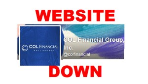 COL Financial Website Down Inaccessible