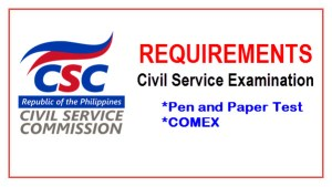 Requirements Civil Service Examination Philippines