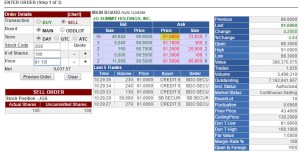 Sell stocks via COL Trading Platform