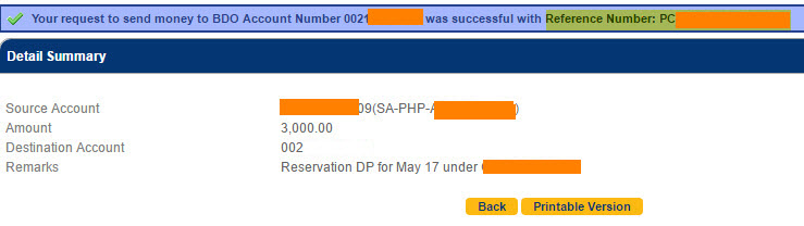 how to send money to any one with BDO account