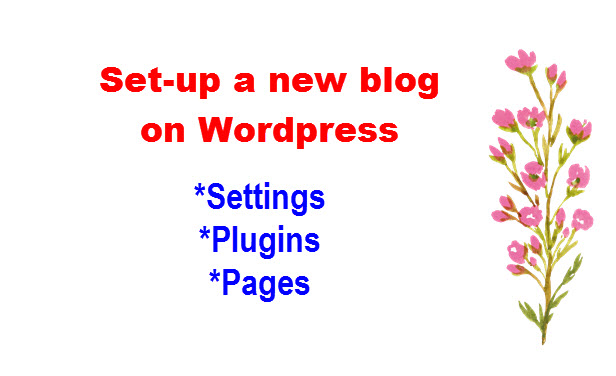 what to set up in a new wordpress blog