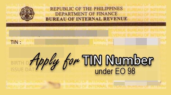 Apply for TIN Number BIR