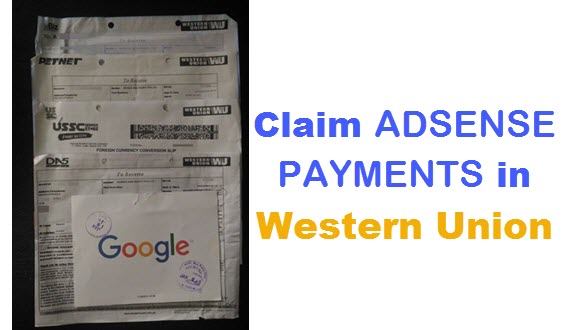 How to Claim Adsense Payments in Western Union