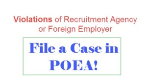How to file a case in POEA againts recruiter or foreign employer