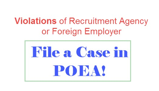 OFW Helpline: File Case in POEA Against Recruitment Agencies, Foreign Employers Violations