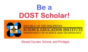 DOST Scholarship Allowed Courses and Privileges