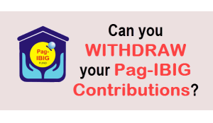 Pag IBIG Withdrawal of Contribution
