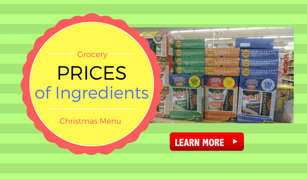 Prices of Ingredients for Christmas Menu and Noche Buena Dishes