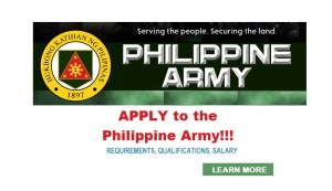 Philippine Army Recruitment Apply