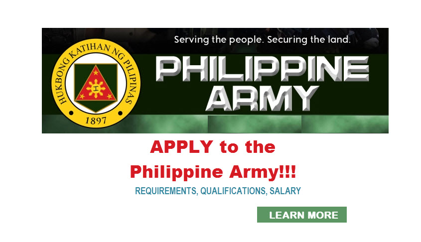 Philippine Army Recruitment – HOW TO APPLY | REQUIREMENTS