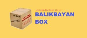 Balikbayan Box 2017 Custom Rules
