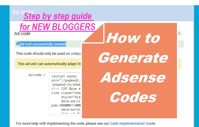 how to generate adsense codes