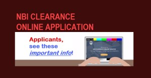 nbi clearance online application answers