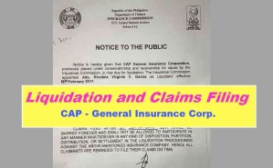 CAP General Liquidation and Claims Filing