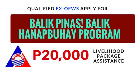 ex ofws 20,000 owwa balik pinas balik hanapbuhay program