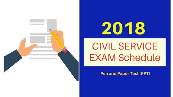 Civil Service Exam Schedule 2018