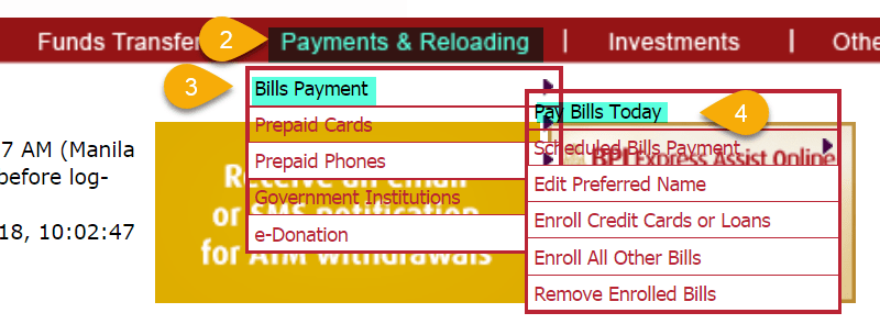 Pay Credit card bpi express online