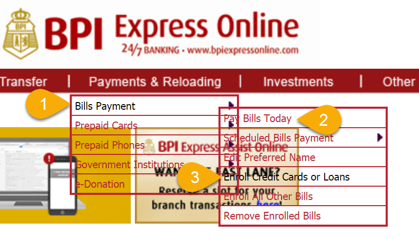 How to Enroll and Pay BPI Credit Card in Express Online Bills Payment –  iSensey