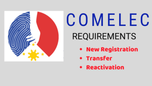 Comelec Requirements for New Voter's Registration, Transfer, Reactivation