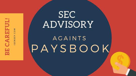 sec advisory paysbook online