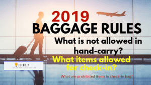 baggage rules and prohibitions 2019