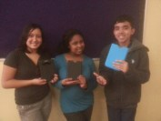 Kindlers Jasmin Tamera Steven with their Kindles