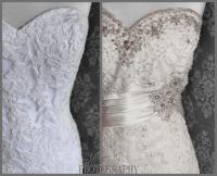 White Vs Ivory Champagne Wedding Dress | Wedding