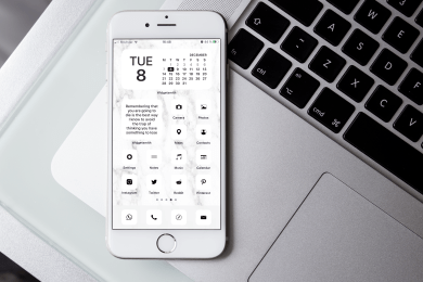Black and White iOS Icons